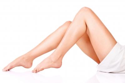 Beine nach selbstgemachtem Peeling